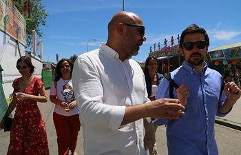 Ramón Espinar y José García Molina en Talavera de la Reina.