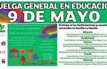 9 de Mayo: huelga general y movilizaciones contra la LOMCE y los recortes