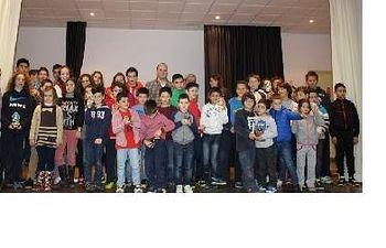 Foto de familia de la fase de ajedrez de Albalate