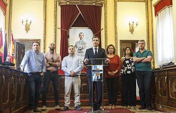 Antonio Román en su última comparecencia pública como alcalde de Guadalajara.