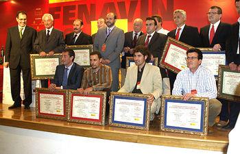 El Consejero de Agricultura y Desarrollo Rural José Luis Martínez Guijarro presidió hoy la entrega de los Premios Oficiales a los Mejores Vinos de la Tierra Españoles 2008, en el marco de FENAVIN.