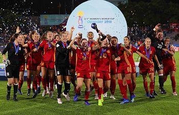 Selección Española de Fútbol Femenico Sub 17.  Foto: Twitter Selección Española de Fútbol Femenino.