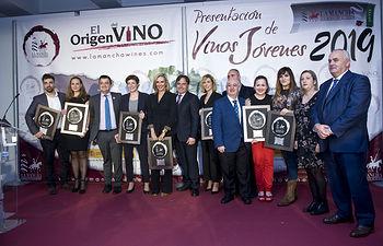 Galardonados en los Premios Jóvenes Solidarios D.O. La Mancha. Foto: J.CARLOS AMIGO