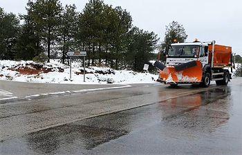 Las máquinas quitanieves de la Diputación Guadalajara han actuado en casi 600 kilómetros de carreteras de la provincia.