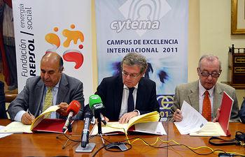 César Gallo, Miguel Ángel Collado y Miguel Panadero.