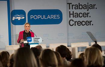 La candidata a la presidencia de la Comunidad de Madrid, Cristina Cifuentes