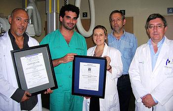 En la imagen, los profesionales que durante dos años han trabajado para que el Servicio de Radiodiagnóstico del Complejo Hospitalario de Toledo obtenga la certificación de calidad ISO 9001:2008.