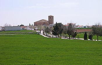 Localidad de Villar de Cañas - Cuenca. Foto de archivo.