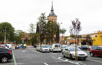 Aparcamiento junto a la plaza de Santa María, eje cultural