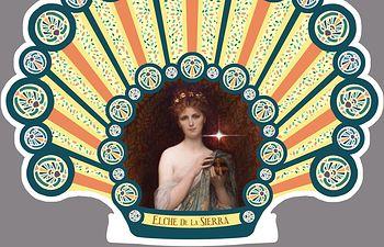 Boceto  de la alfombra que se realizará en Santiago de Compostela.
