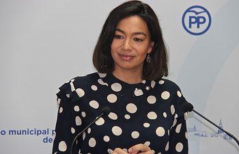 Claudia Alonso, portavoz del PP en el Ayuntamiento de Toledo.