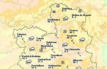 La previsión de la Agencia Estatal de Meteorología (AEMET) contempla la posibilidad de que se produzcan fuertes rachas de viento en las provincias de Albacete y Cuenca a lo largo del día de mañana.