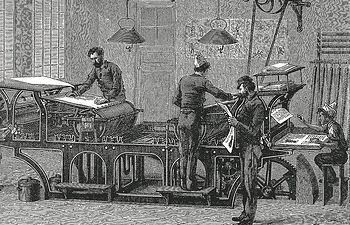 Foto: Imprenta - Alegoría de la Revolución Industrial.