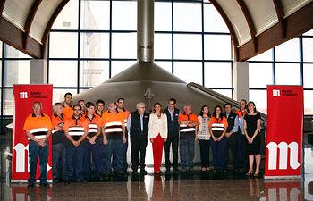 Presidenta Cospedal visita Fábrica Cervezas Mahou-8. Foto: JCCM.