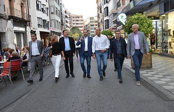 El secretario de Organización del PSOE y ministro de Fomento en funciones, José Luis Ábalos, en Cuenca.