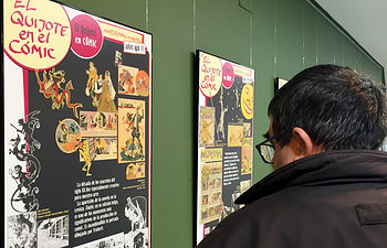 """La exposición """"El Quijote en cómic"""", un recorrido por el personaje más importante de la literatura a través de la particular iconografía de las viñetas"""