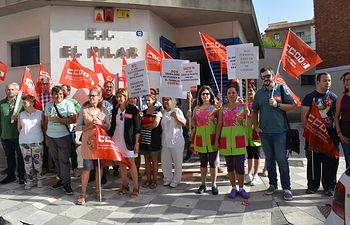 Concentracion CCOO Albacete Escuelas infantiles
