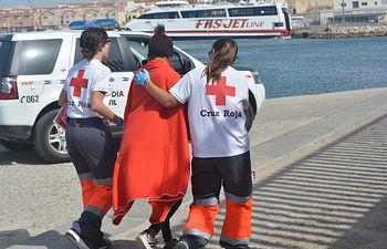 Cruz Roja- Atención a migrantes.