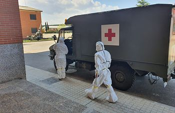 Coronavirus- Ambulancia militar. Foto: Europa Press 2020