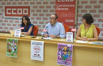 Rosario Martínez, Paco de la Rosa y Mª Ángeles Castellanos.