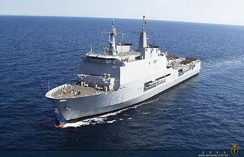 Buque anfibio Galicia. Fuente: Armada española.
