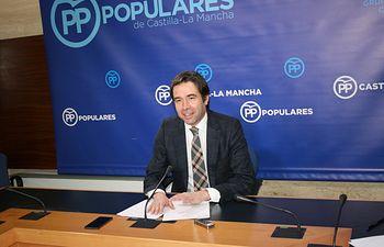 Lorenzo Robisco, portavoz adjunto del Grupo Parlamentario Popular en las Cortes de Castilla-La Mancha. Foto: PP CLM.