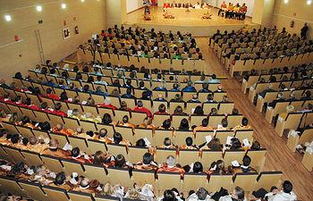 Imagen de archivo del acto de apertura del curso 2015/2016, celebrado en el Campus de Cuenca