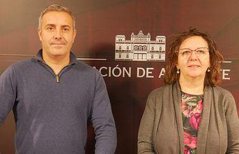 José Ignacio Díaz y Victoria Delicado, diputados provinciales de Ganemos-Izquierda Unida