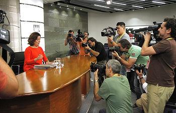 La vicepresidenta del Gobierno en funciones, Soraya Sáenz de Santamaría.