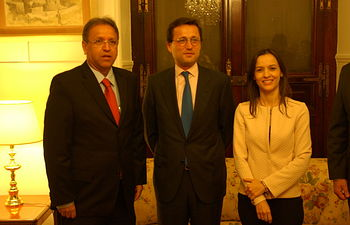 Jaime Haddad recibe al gobernador del Estado de Tocantins de Brasil. Foto: Ministerio de Agricultura, Alimentación y Medio Ambiente