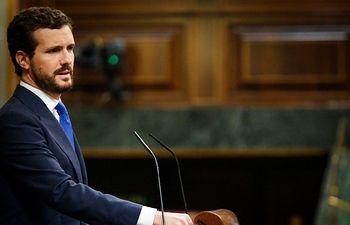 El presidente del Grupo Parlamentario Popular, Pablo Casado.