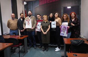 La diputada de Igualdad, Servicios Sociales y Sanidad, Nieves García, presenta las actividades para conmemorar el Día Internacional de la Mujer Trabajadora.
