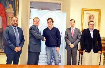 Julián Garde, Miguel Ángel Collado, Rodrigo del Prado, Mario Piattini y José Carlos Díaz.