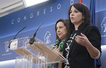 Adriana Lastra y Margarita Robles.