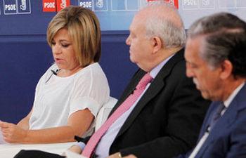 Valenciano, Moratinos y López Garrido durante la Jornada