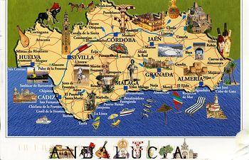 Mapa de Andalucía. Archivo.
