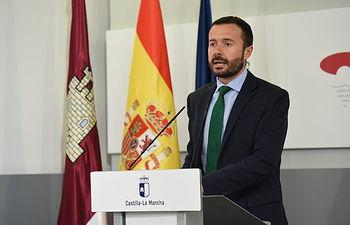 Rueda de prensa de los datos del coronavirus, de sanidad, del consumo y del dispositivo de Geacam (Fotos: José Ramón Márquez // JCCM).