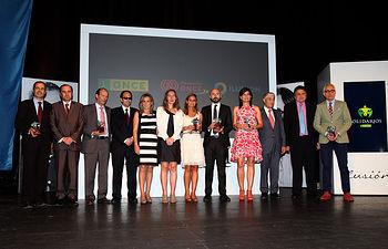 Foto de familia Premiados SOLIDARIOS ONCE 2015.