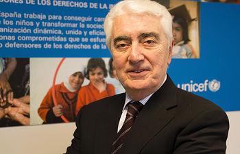 Gustavo Suárez Pertierra, presidente de UNICEF Comité Español.
