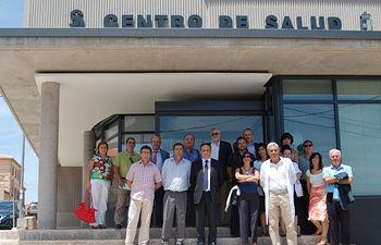 Ruiz Molina visita obras Centro de Salud de Navahermosa