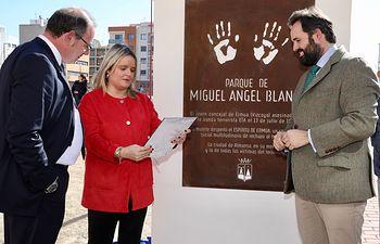 Inauguración del Parque 'Miguel Ángel Blanco' en Almansa.