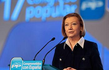 La presidenta de Aragón, Luisa Fernanda Rudi