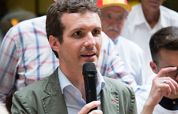 Pablo Casado mantiene un encuentro con militantes del PP en Albacete