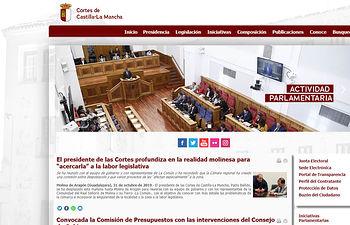Las Cortes regionales renuevan el diseño de la web y reimpulsan sus redes sociales.