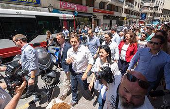 Albert Rivera, candidato a la presidencia del Gobierno por Ciudadanos C's, durante su visita a Albacete.