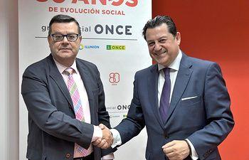 José Luis Martínez Donoso (Director General Fundación ONCE) y Manuel Pinardo Puerta ( Director General de Recursos Humanos El Corte Inglés)