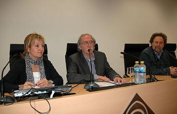 De izqda a dcha, María José Romero, Juan López Gandía y Joaquín Aparicio Tovar