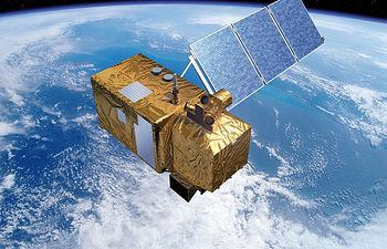 Imagen virtual de uno de los  satélites SENTINEL que previsiblemente será lanzado al espacio a finales de 2012 por la Agencia Espacial Europea.