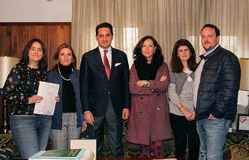 Reunión que el Colegio de Administradores de Fincas de Albacete y Cuenca ha celebrado con Albino Escribano, decano del Ilustre Colegio de Abogados de Albacete
