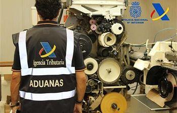 Operación contra tabaco clandestino. Foto: Ministerio de Hacienda y Administraciones Públicas.